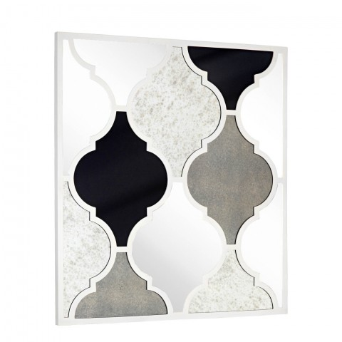 """Weight -40 lbs  Color - Antique Mirror, White Shape - Rectangle Frame - Wood Size - 36"""" X 39"""""""