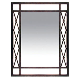 "32"" x 42""H (OA) Shown with: Powder Coat painted finish 1/4"" mirror with beveled edges"