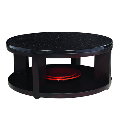 "Standard with black granite top dimensions  Height 18""   Diameter 42"""